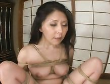 Asian tied up and fucked